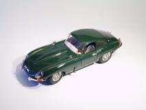 Sportscar Jaguar E-Type model. Model of Jaguar E-Type on white background Stock Photos