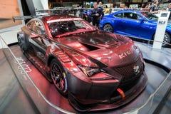 2018 sportscar Lexus RC F GT3 Royalty-vrije Stock Foto's