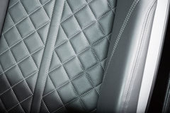 Sportscar's seat detail shot Stock Photo