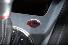 Sportscar's staart engine detail shot. Stock Photos
