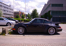 Sportscar in Scandinawia Royalty Free Stock Photography