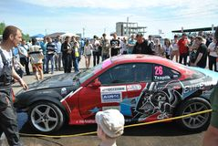 Sportscar strojeniowe rywalizacje na nastrajających samochodach w dryfie rds Obraz Stock