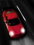 Sportscar veloce alla notte Immagini Stock Libere da Diritti
