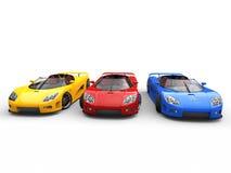 Sportscars -基色-顶视图 库存图片