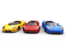 Sportscars - base colors - top view Stock Image