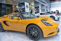 Sportscars de Lotus en la exhibición Imagen de archivo