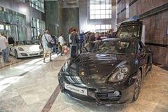 Sportscars de Porsche en la exhibición Foto de archivo