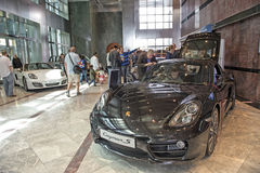 Sportscars di Porsche su esposizione Fotografia Stock