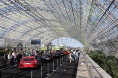 Sportscars utställning på den auto mobila internationalen Arkivbild