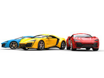 Sportscars on white Royalty Free Stock Photo