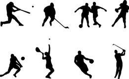 Sportschattenbilder stock abbildung