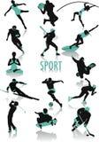 Sportschattenbilder Lizenzfreies Stockbild