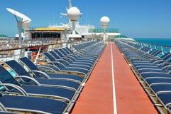 Sportsdeck onboard Liberty of the Seas, Royal Caribbean. Cruises royalty free stock photos
