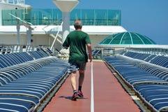 Sportsdeck onboard Liberty of the Seas, Royal Caribbean. Cruises stock photography