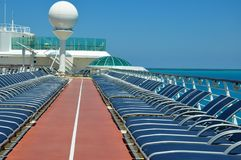 Sportsdeck onboard Liberty of the Seas, Royal Caribbean. Cruises stock images