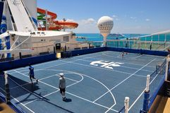 Sportsdeck onboard Liberty of the Seas, Royal Caribbean. Cruises royalty free stock photo