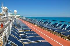 Sportsdeck onboard Liberty of the Seas, Royal Caribbean. Cruises stock image