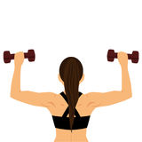 Sportsgirl Здоровый уклад жизни бесплатная иллюстрация
