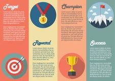 Sportsiegerikone infographic Lizenzfreie Stockbilder