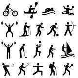 Sportsilhouettes Arkivbilder