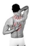 Sportskadan smärtar arkivfoto