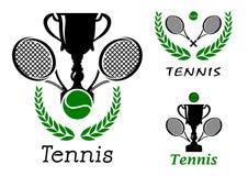 Sportslig emblemuppsättning för tennis Royaltyfri Fotografi