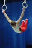 sportslig gymnastik Fotografering för Bildbyråer