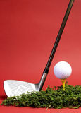 Sportslig och fritidjakt, golf - lodlinje. Arkivfoto