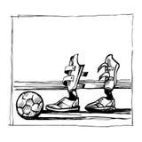Sportsliga handikapp de lägre lemmarna skissar vektorn royaltyfri illustrationer