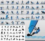 sportsliga symboler stock illustrationer