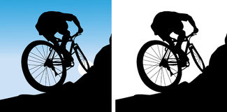 The sportsman on a bicycle Stock Images