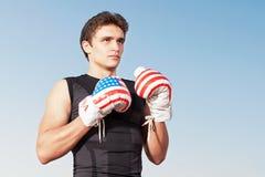Sportsman boxer . Royalty Free Stock Photo