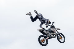 Sportsman carries out a trick. Tyumen. Russia Stock Photography