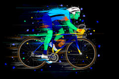 Sportsman doing Cycling Royalty Free Stock Images