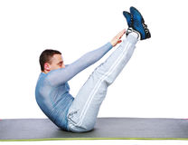 Sportsman exercising workout fitness Royalty Free Stock Photos