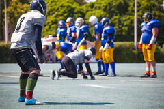 Sportsman game of american football Royalty Free Stock Photo