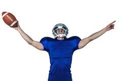 Sportsman gesturing victory Stock Images