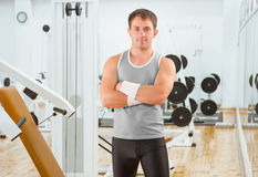 A sportsman in gim Royalty Free Stock Photos