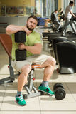 Sportsman in gym. Royalty Free Stock Photos