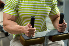 Sportsman in gym. Stock Images