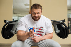 Sportsman in gym. Stock Photography