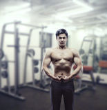 Sportsman in the gym Stock Photography