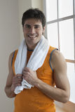 Sportsman holding towel Stock Images
