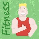 Sportsman illustration, fitness background Stock Images