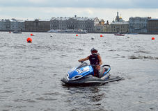 Sportsman on jetski Stock Photo