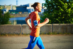 Sportsman jogging Stock Images