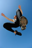 Sportsman jumping Royalty Free Stock Images