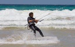 Sportsman kite surfer Stock Photos