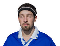 Sportsman meditating Royalty Free Stock Photography