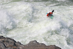 Sportsman On The Rapids Royalty Free Stock Photos